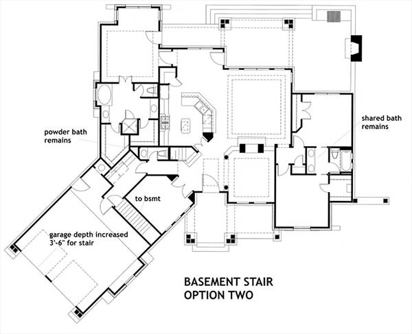 Basement Stair Option 2 image of Vita di Lusso House Plan