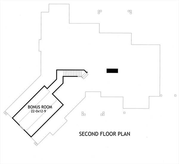 Second Floor Plan image of Vita di Lusso House Plan