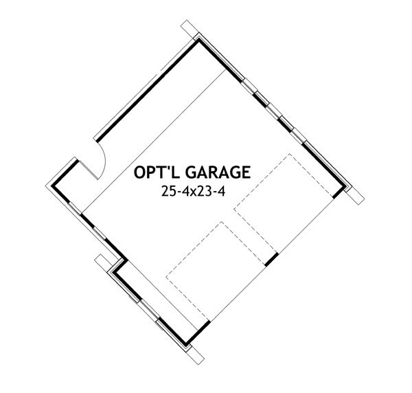 Detached Garage option image of Merveille Vivante Small House Plan