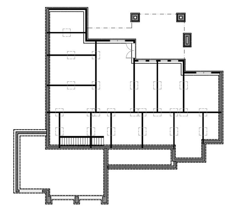 Walkout Basement Floor Plan image of La Casa Bella House Plan