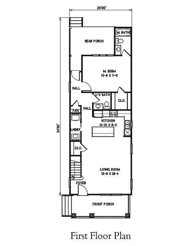 1st Floor Plan image of Morning Coffee House Plan