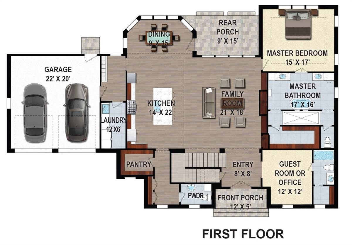 1st Floor Plan image of First Lady House Plan