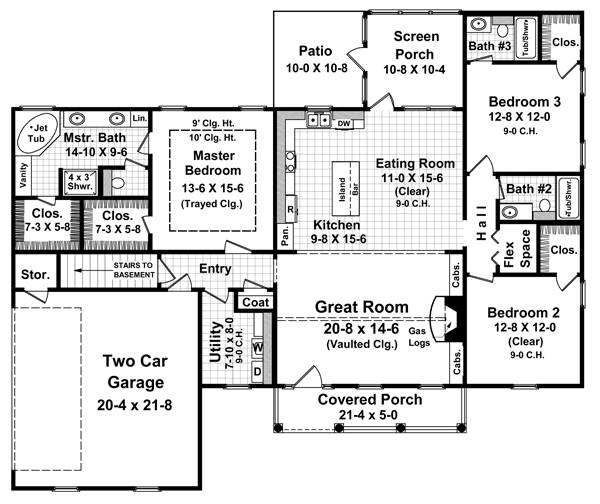 Floorplan image of The Seneca Hills House Plan
