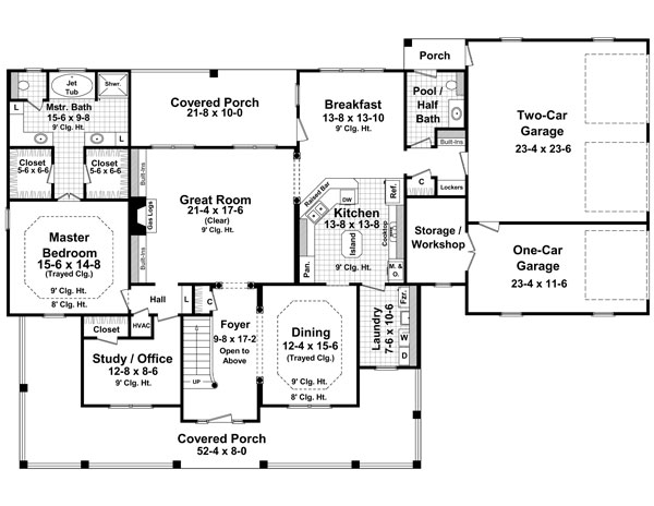 1st Level Floorplan image of The Stonewood Lane House Plan