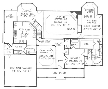 First Floor Plan image of CAMELLIA House Plan