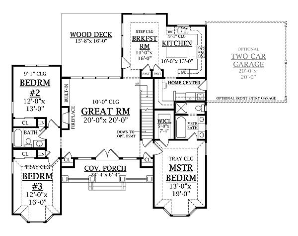 First Floor Plan image of LEWISTOWN House Plan