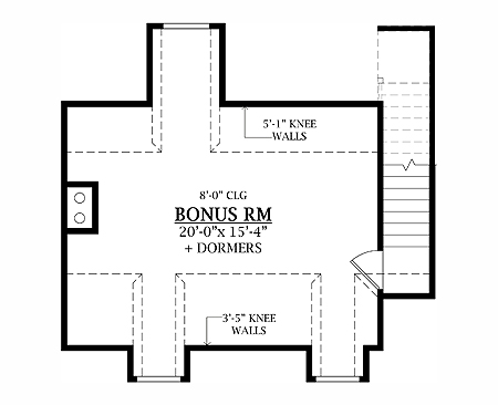 Bonus Room image of LEWISTOWN House Plan