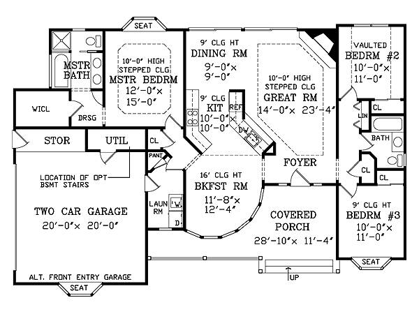 First Floor Plan image of JASPER House Plan