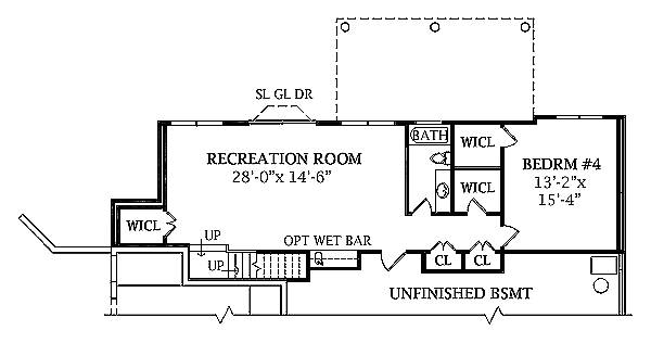 Walk-out Basement Plan image of JASPER House Plan