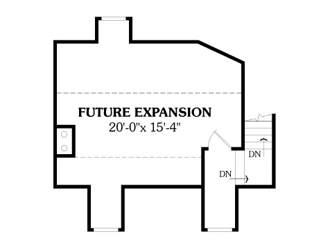 Bonus Space image of Affordable Ranch House Plan