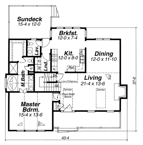 First Floor image of Lancaster House Plan