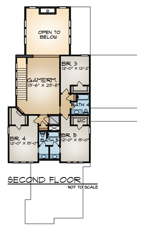 Second Floor Plan image of THE SIENNA House Plan