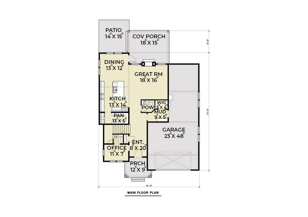 1st Floor image of Contemporary 205 House Plan