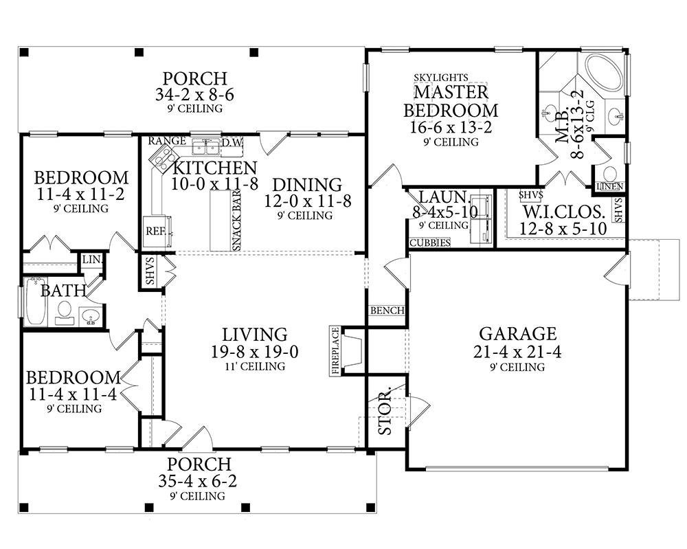 1st Floor image of Stonebrook House Plan