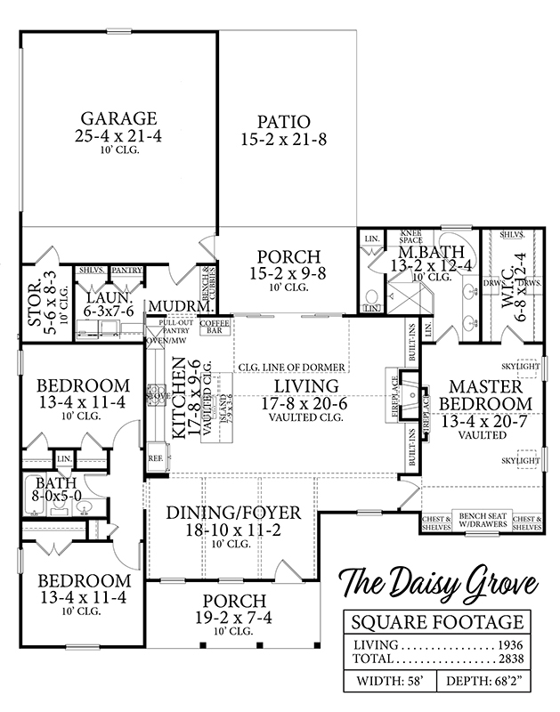 1st Floor image of Daisy Grove House Plan