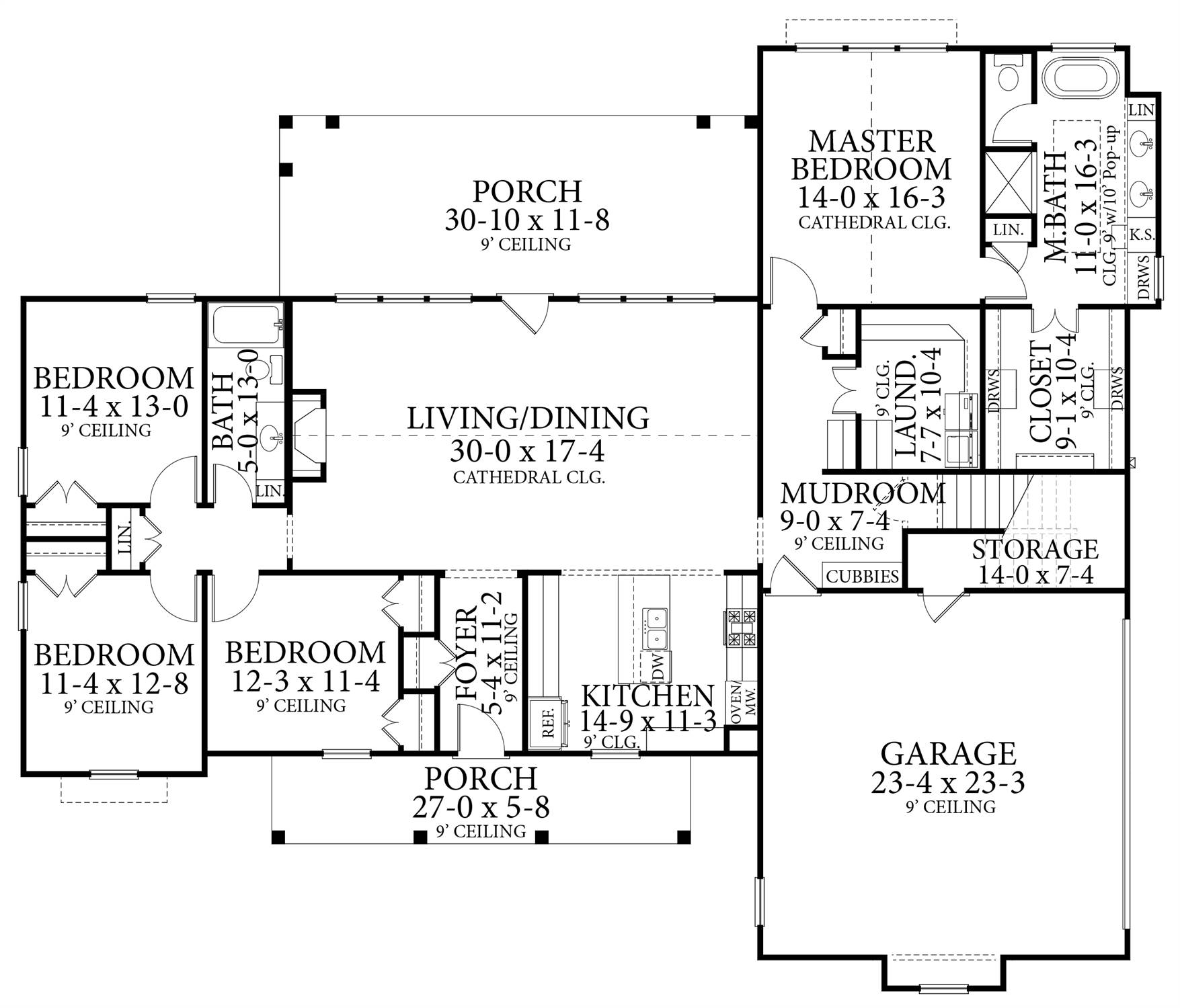 Floor Plan image of Treehill House Plan