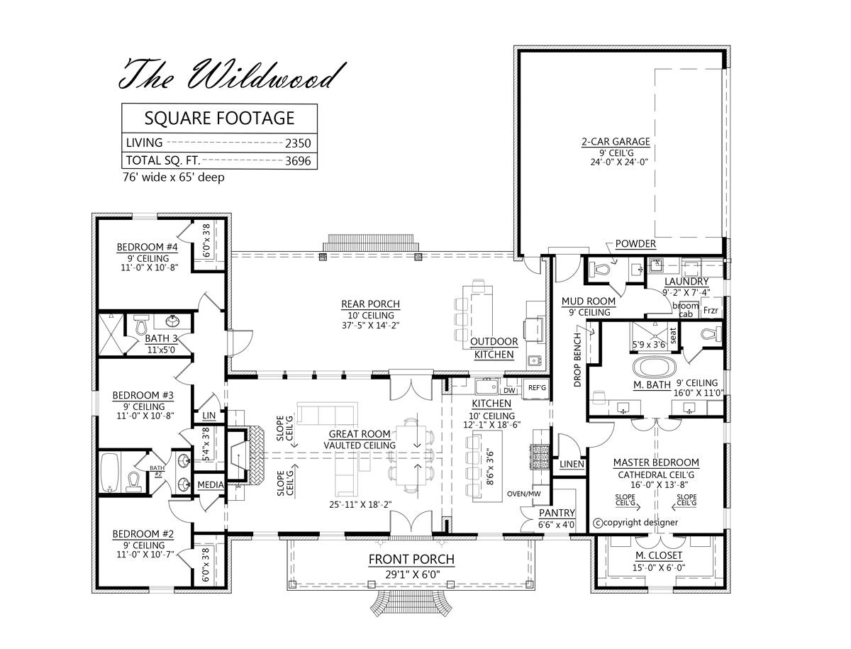 1st Floor image of Wildwood House Plan