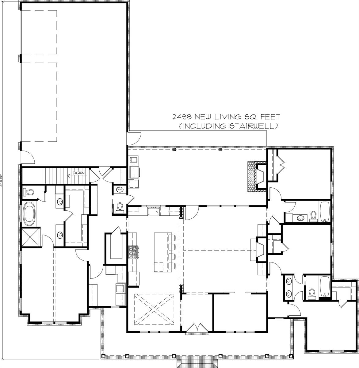 Basement Plan image of Black Creek House Plan