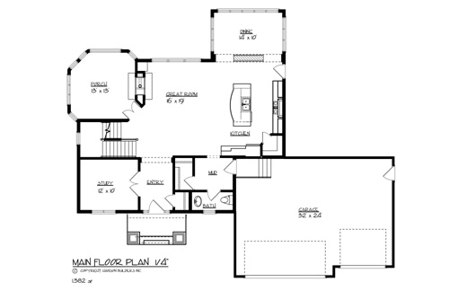 House the st paul house plan green builder house plans for Main street homes floor plans