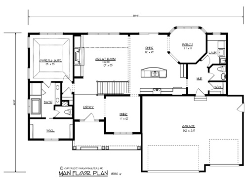 House the morton house plan green builder house plans for Builder house plans com