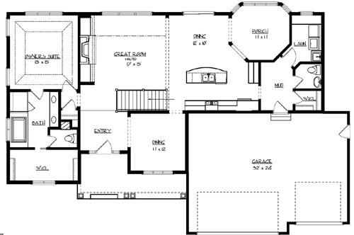 House the sunset lake house plan green builder house plans for Builder house plans com