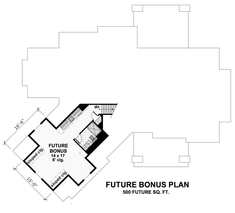 Bonus Floor Plan image of Litchfield House Plan