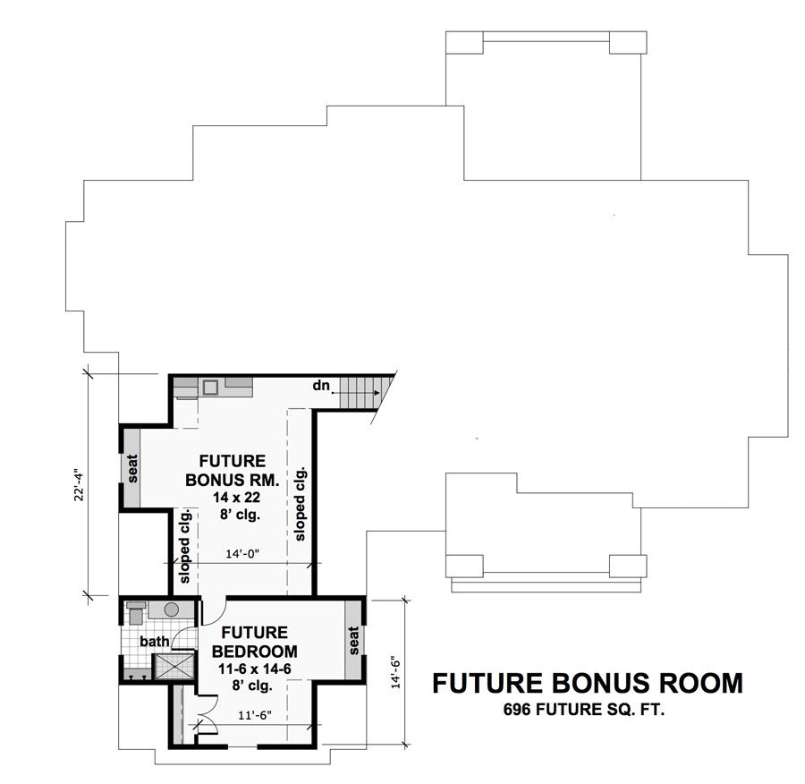 Bonus Floor Plan image of Smugglers Notch House Plan