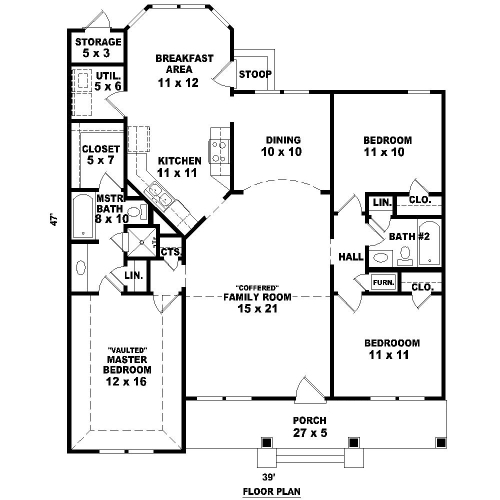 1st Level image of Midtown Bungalow House Plan