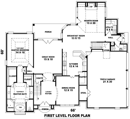 House French Dream Plan Green Builder Plans
