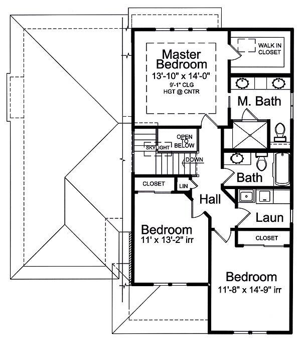 Second Floor Plan image of The Valencia House Plan