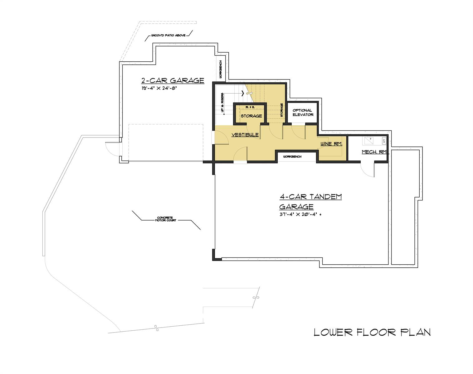 Lower Level Plan image of Pendenza House Plan