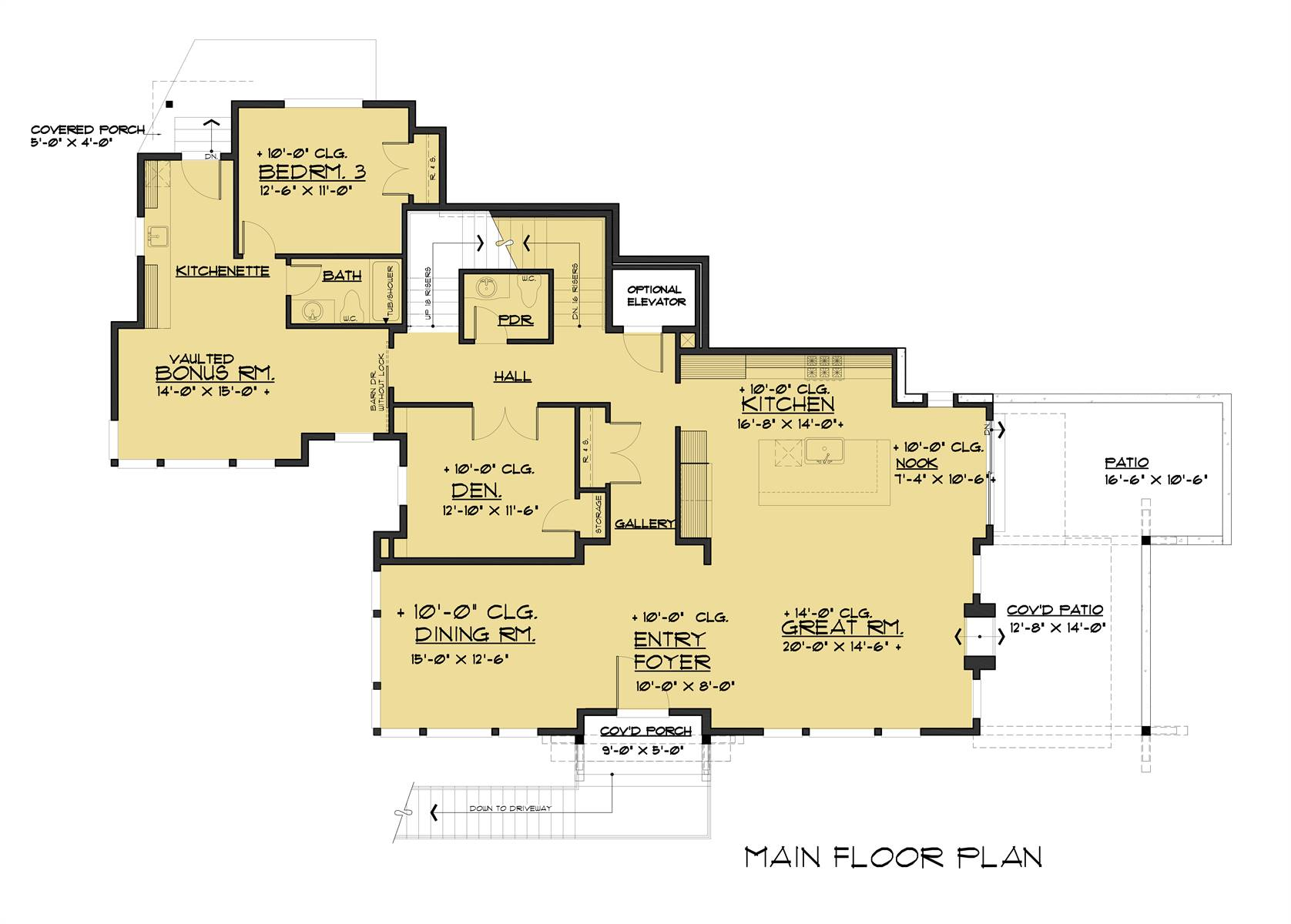1st Floor image of Pendenza House Plan