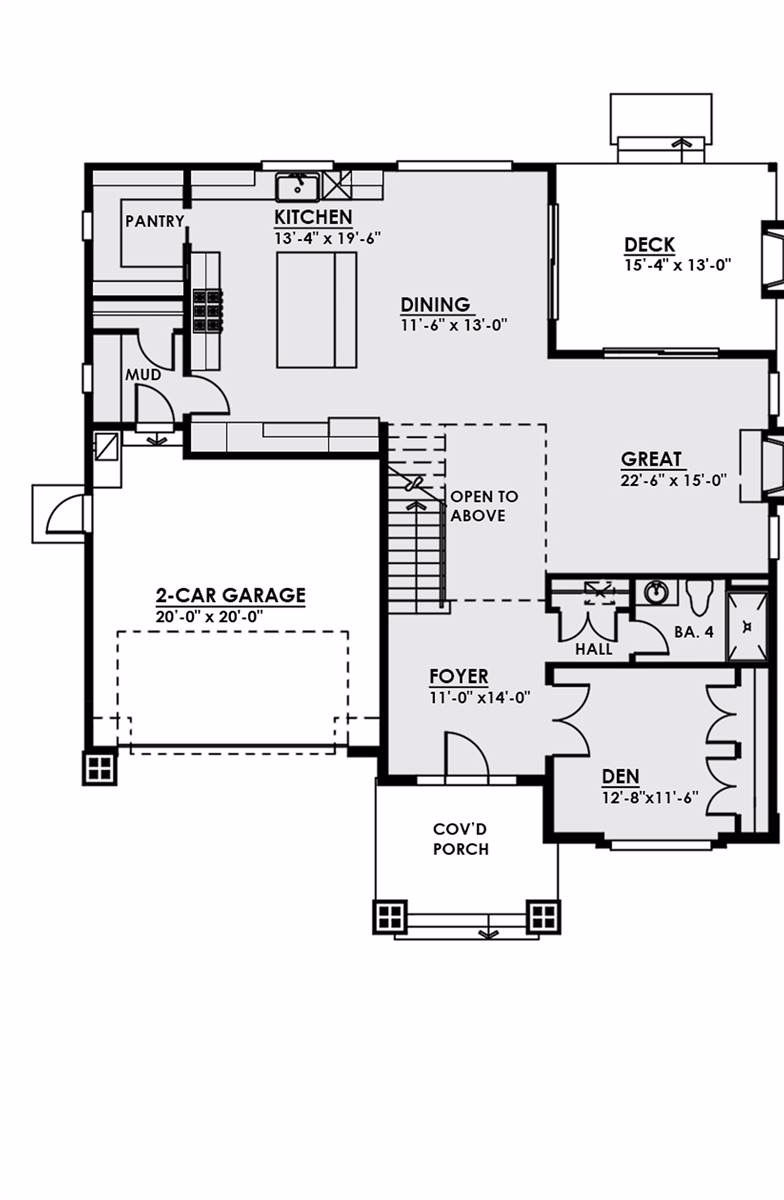 1st Floor image of The Halliwell House Plan