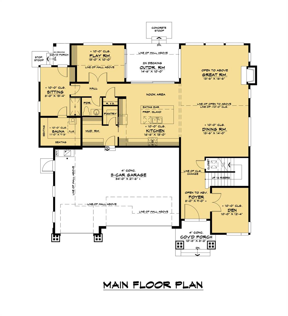 1st Floor image of The Astoria House Plan