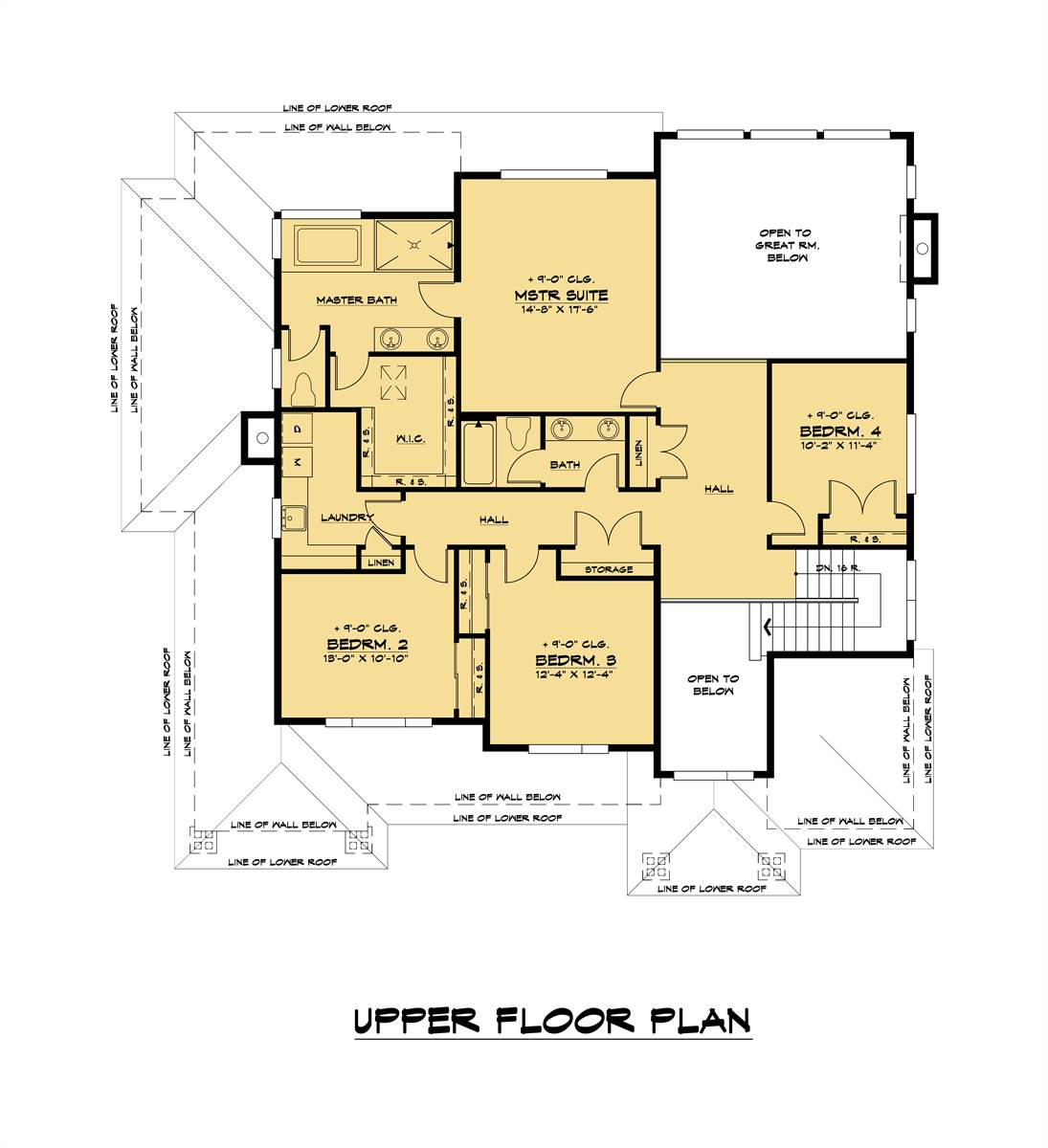 2nd Floor image of The Astoria House Plan