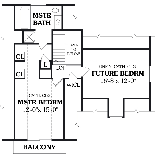 Second Floor Plan image of KILLINGTON House Plan