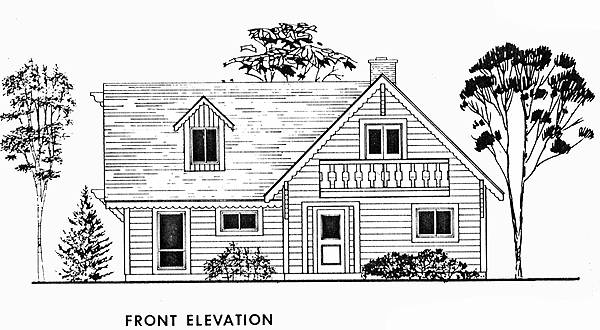 Front Elevation image of KILLINGTON House Plan