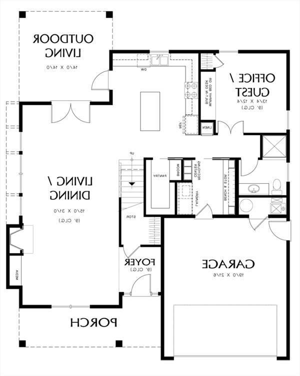 House halstead house plan green builder house plans for Builder house plans com
