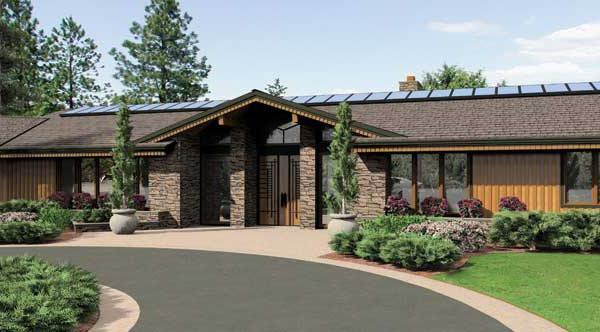 Front Rendering image of Keswick House Plan