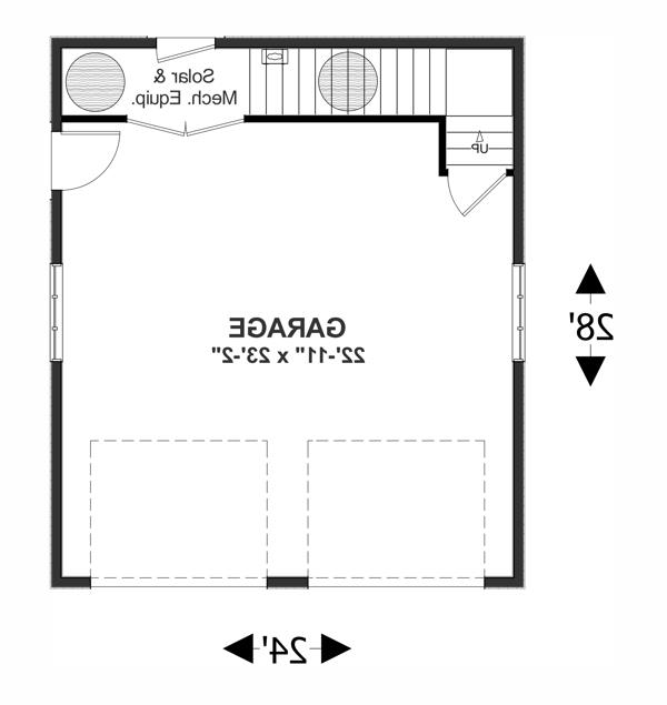 Lower Level Floorplan image of The Sovereign Cottage House Plan