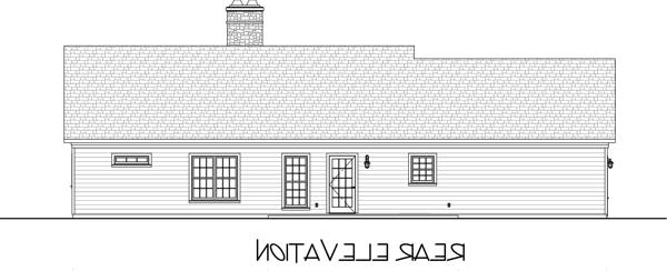 Rear Rendering image of The Hidden Meadow House Plan