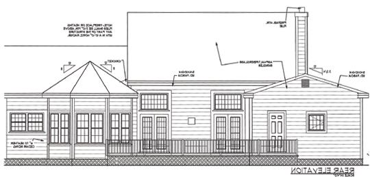 Rear Elevation image of Great Home House Plan