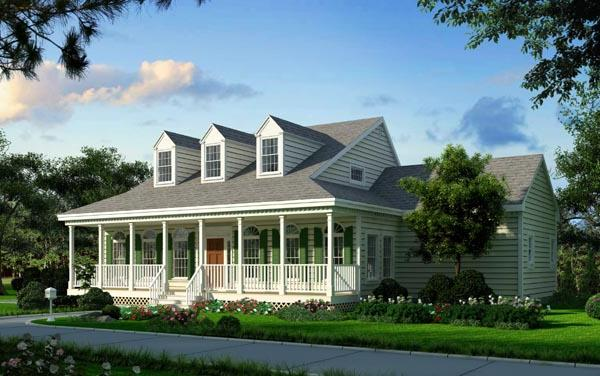 Color rendering image of Great Home House Plan