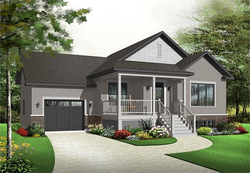 Front image of Crocus House Plan