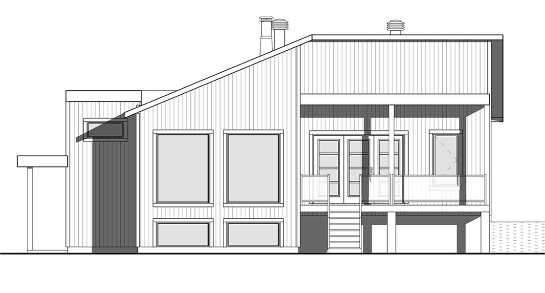 Left rendering image of Billy House Plan