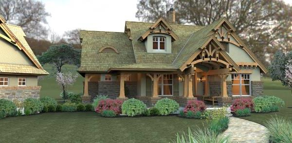 Rendering - Front image of Merveille Vivante Small House Plan