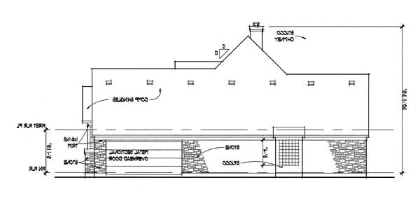 Left Elevation image of The Oakwood House Plan