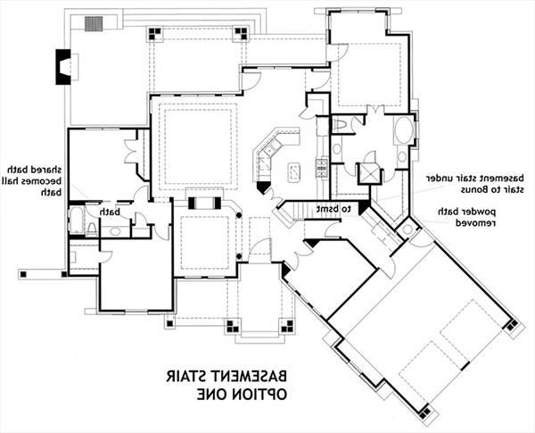 Basement Stair Opt 1 image of L'Attesa di Vita House Plan