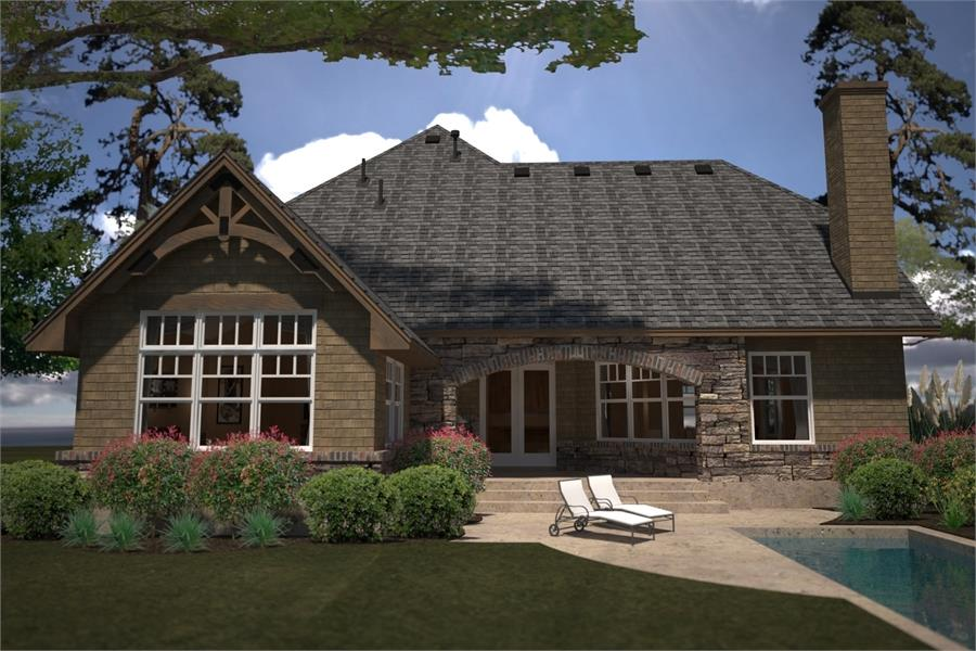 Rear Rendering image of L'Casa Stretta House Plan