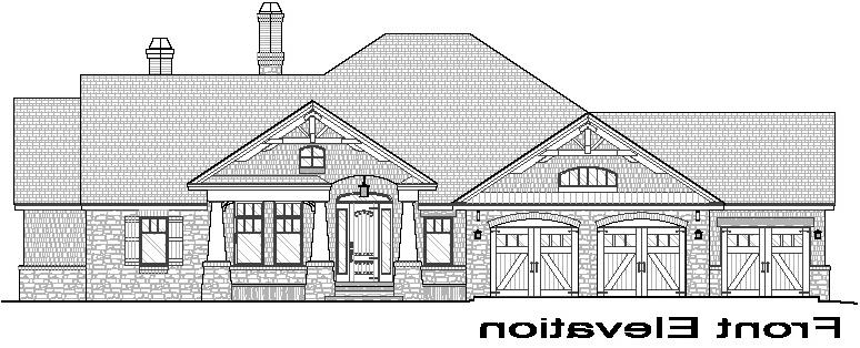 Front Elevation image of La Casa Bella House Plan